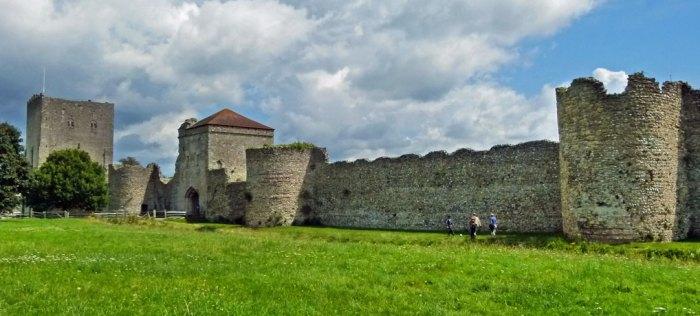 Portchester's Roman walls