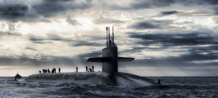 Submarines still patrol the seas - this is possibly USS Rhode Island in 2013. Photo via Pixabay.