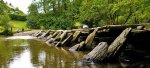 Tarr Steps, ancient clapper bridge in Somerset