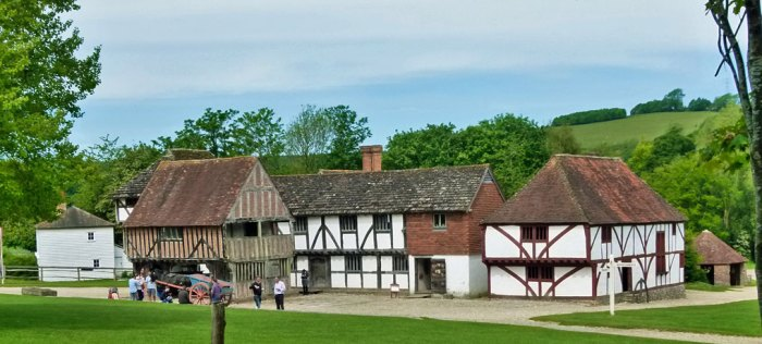 Weald and Downland Museum, West Sussex - Market Place.