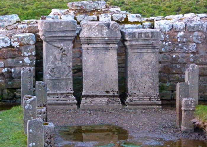 Altars, Mithras, Brocolitia, Northumberland, Roman Britain