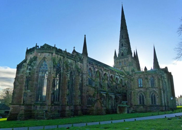 Lichfield Casthedral from the north east