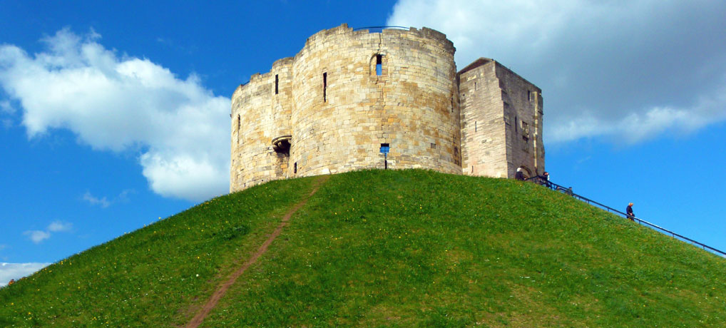 Clifford's Tower, 13th century quadrilobate keep of York Castle