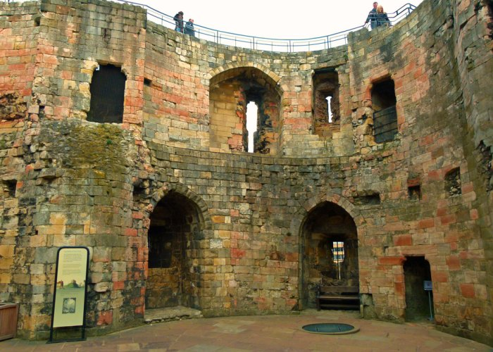 Clifford's Tower, interior, Yorkshire