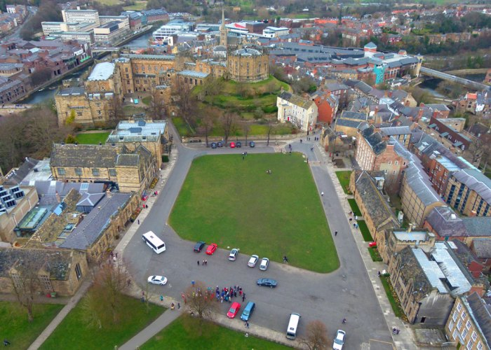 Palace Green and Durham Castle from above
