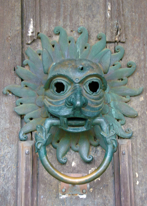 The sanctuary knocker at Durham Cathedral