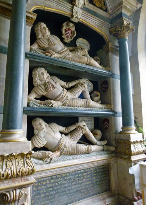 Fettiplace memorials, Swinbrook, Oxfordshire churches