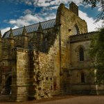Rosslyn Chapel, moody and mysterious