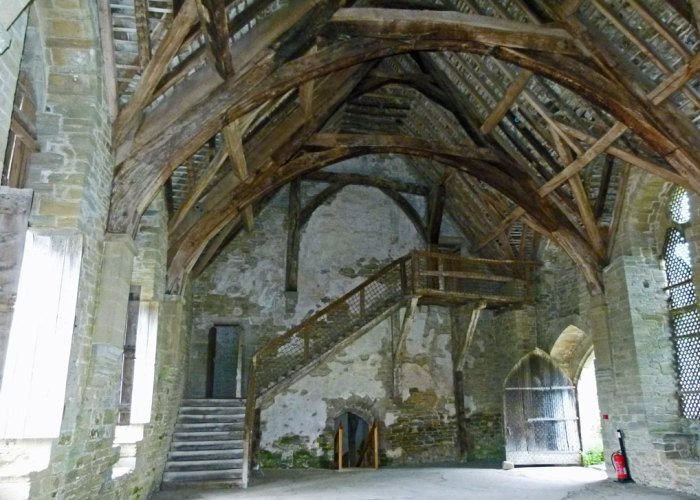 Stokesay, Great Hall, roof, windows, staircase