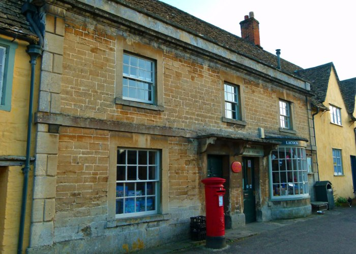 Lacock, post office