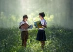 Children, reading