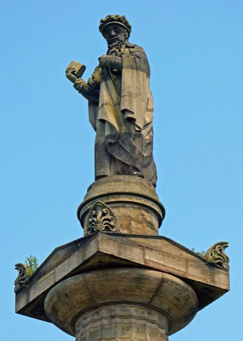 John Knox, Glasgow, Necropolis