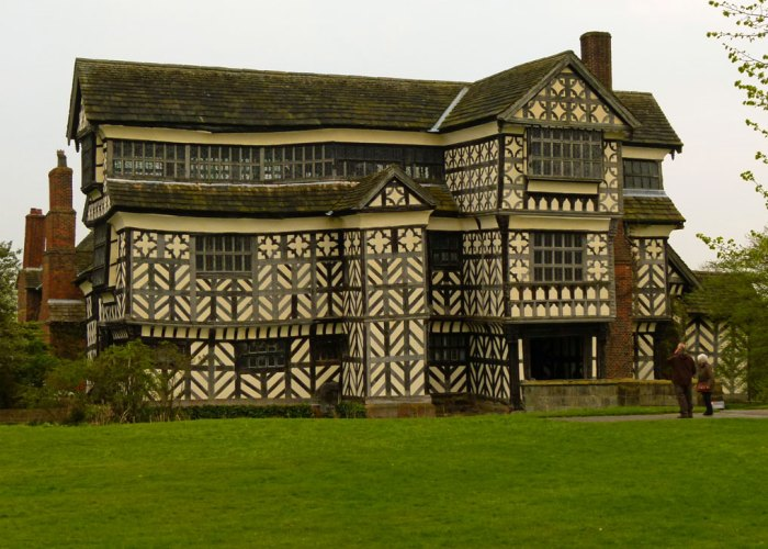 Little Moreton Hall, timber-framed, Tudor house, Cheshire