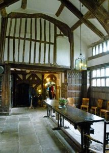 Little Moreton Hall, great hall, refectory table