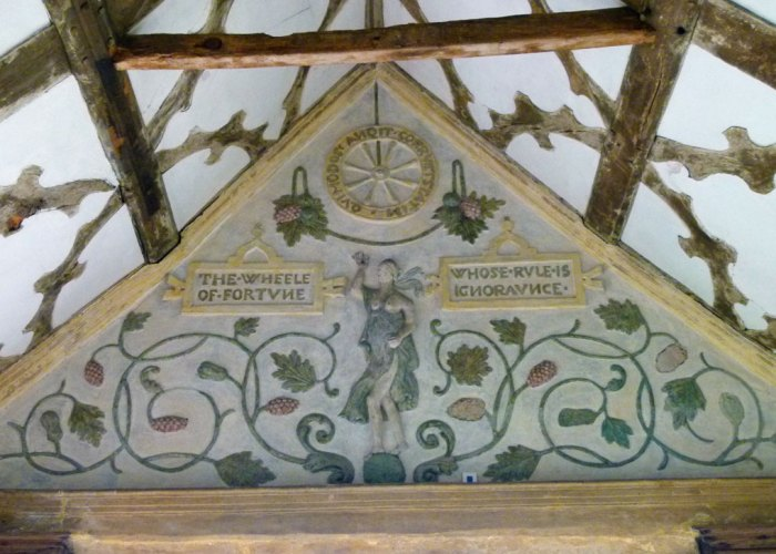 Little Moreton Hall, Tudor plasterwork, Long Gallery