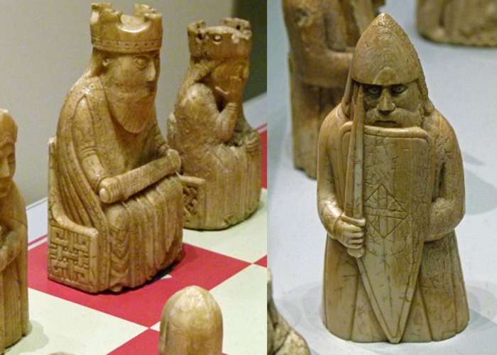 British Museum - The Lewis Chessmen - 12th century, walrus ivory