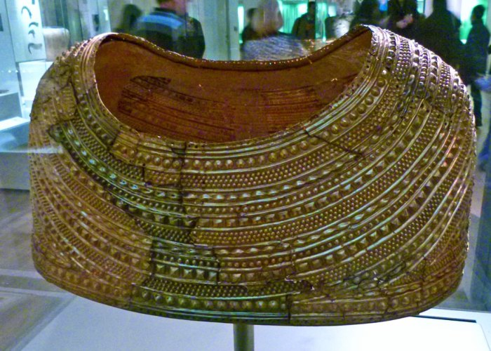 British Museum - Celtic gold cape, c1900 - 1600 BC, found in Mold, Wales