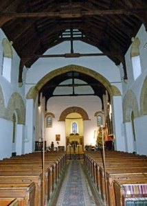 Brixworth, nave, Saxon arches, Roman bricks