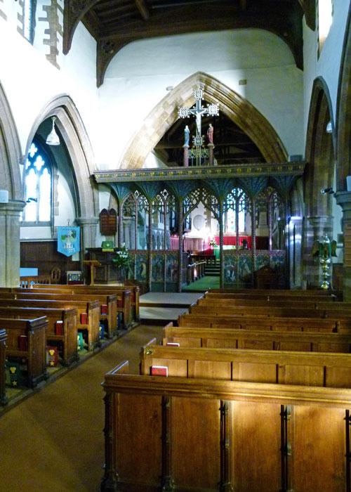 Earls Barton, nave, rood screen