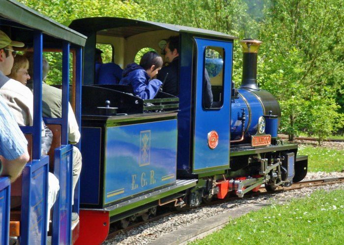 Exbury, narrow gauge, railway, Exbury gardens, Britain