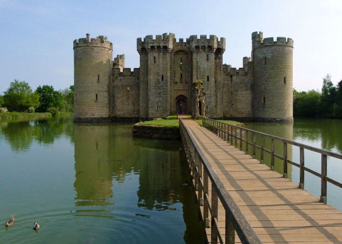 Bodiam Castle, East Sussex, fairy-tale