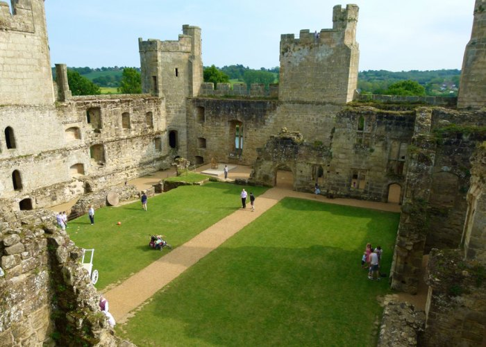 Inside Bodiam Castle