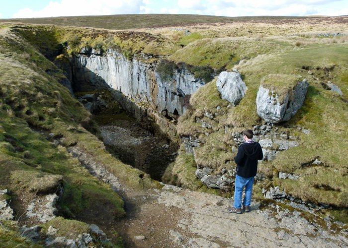Hull Pot, collapsed cave, Yorkshire Dales