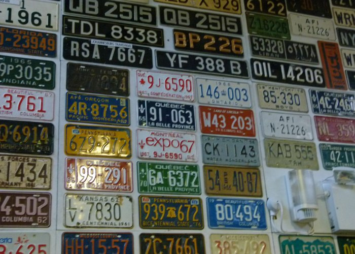 Number plates, Lakeland Motor Museum