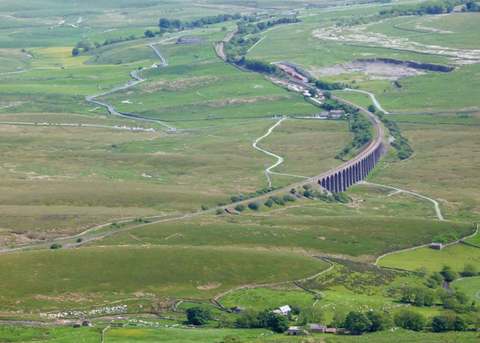 Ribblehead from Whernside, Carlisle-Settle Railway