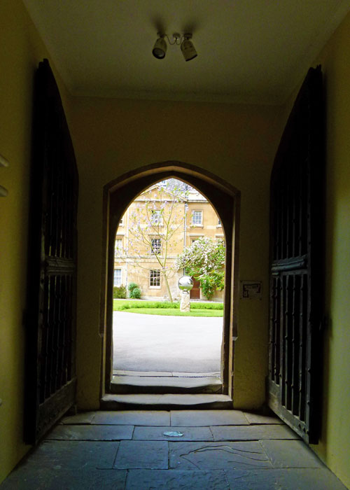 Balliol, doors damaged, Latimer, Ridley