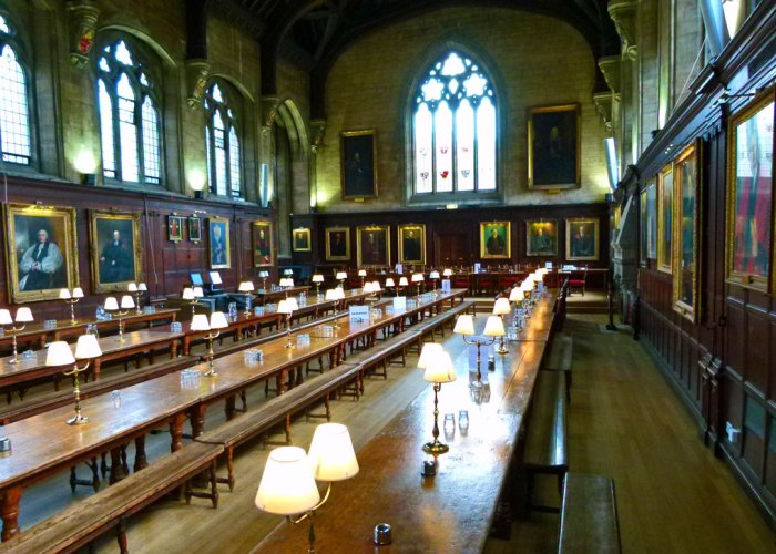 Balliol, hall interior