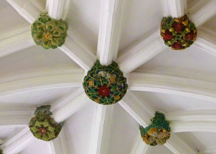Glasgow Cathedral, painted bosses, Blacader Aisle