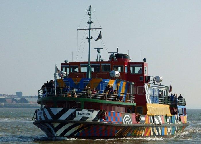 Razzle Dazzle, Snowdrop, Mersey ferry, Woodside, Birkenhead