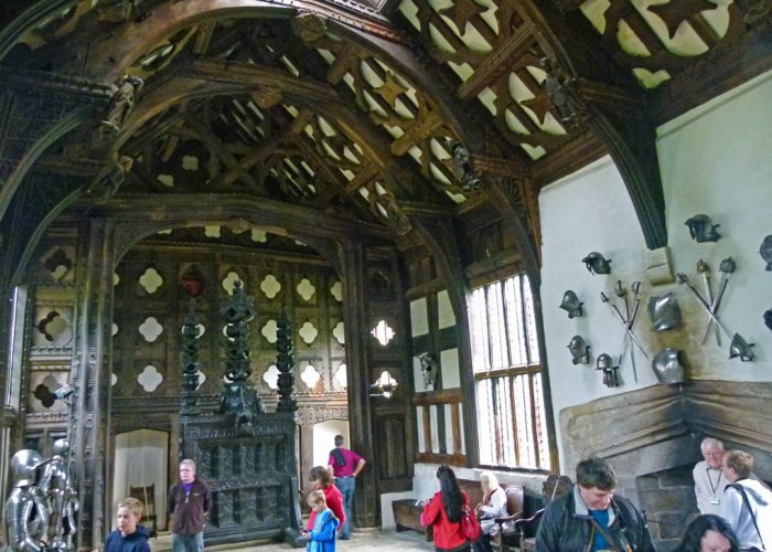 Tudor hall at Rufford, Lancashire