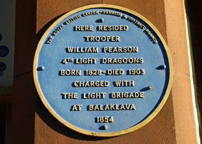 Royal British Legion, blue plaque, Trooper Pearson, Penrith, Cumbria