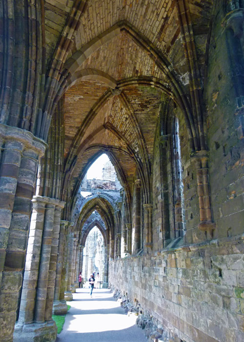 Whitby Abbey, medieval vaulting