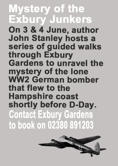 Exbury Gardens, Junkers, WW2, John Stanley
