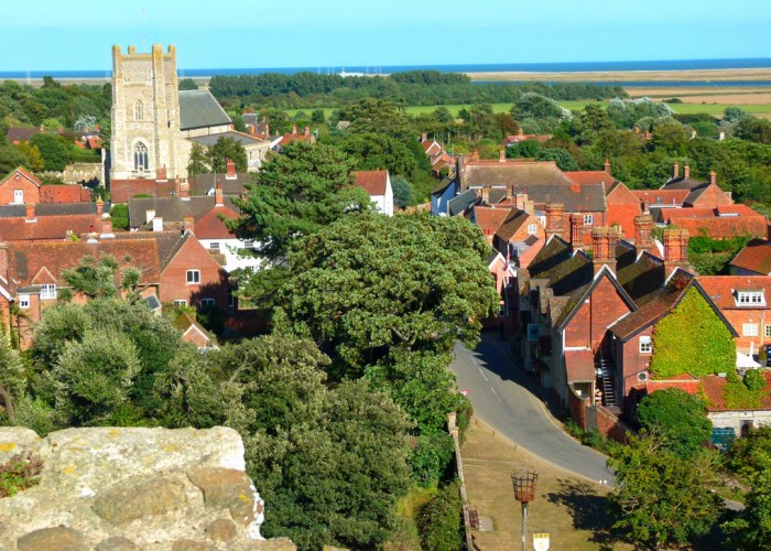 Orford, view from the keep, St Bartholomew's church