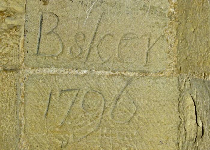 Orford Castle, graffiti