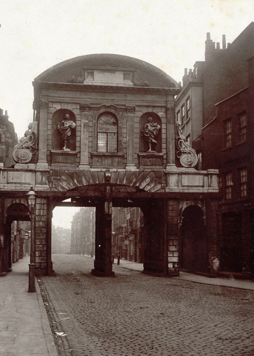 Temple Bar, London, 1878.