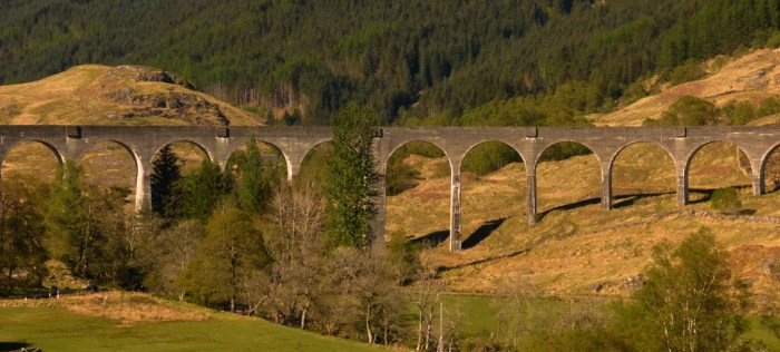 Genfinnan, viaduct, Highlands, Scotland