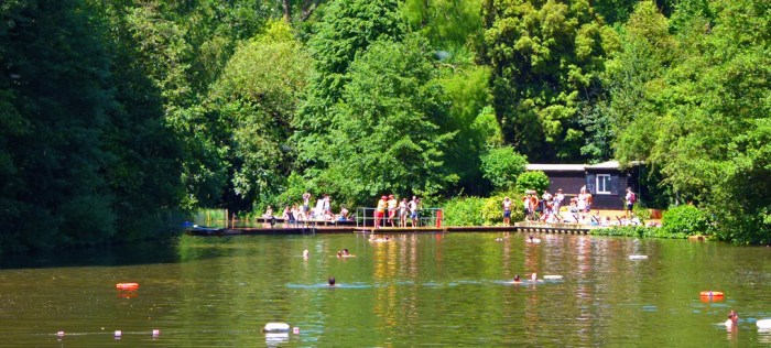 Bathing, Hampstead, Heath, London, Parks