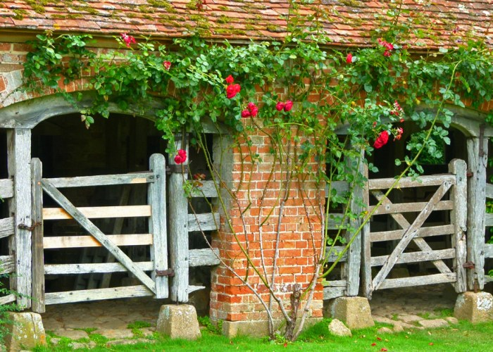 Buss stalls, calf pens, at Barrington Court, Somerset
