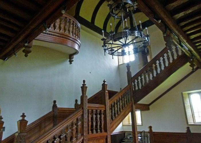 Barrington Court, stairs, Court House, Scottish castle