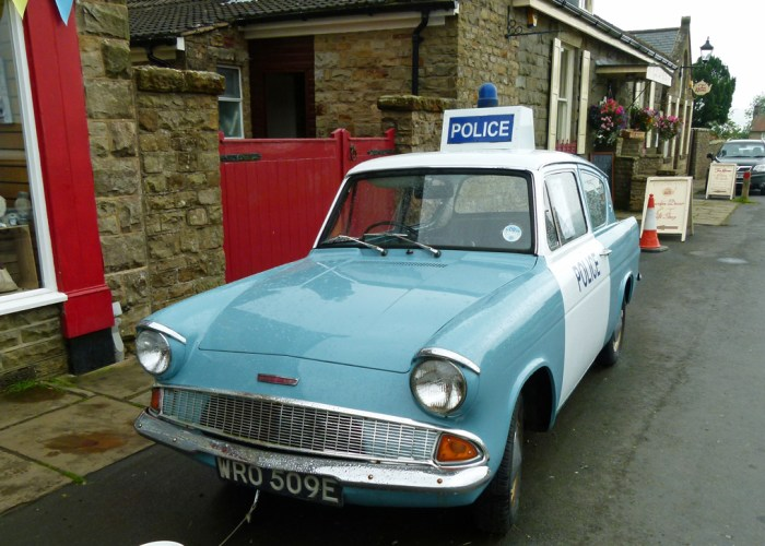 Ford Anglia, police car, Aidensfield, Goathland