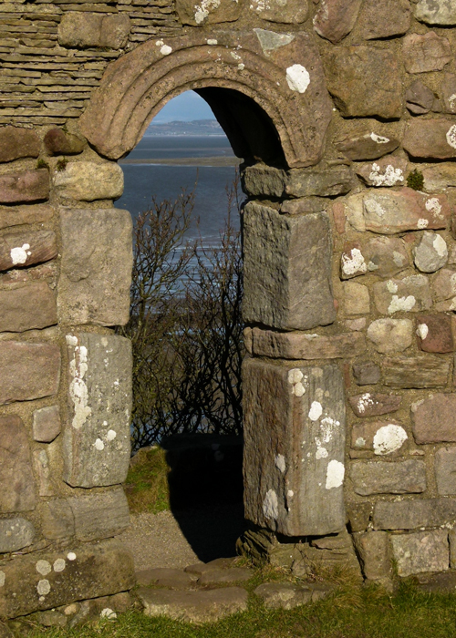 Anglo-Saxon , remains, doorway, Heysham, Lancashire