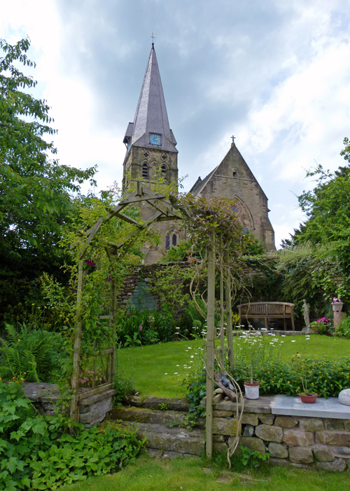 All Saints, Burton in Lonsdale, open gardens
