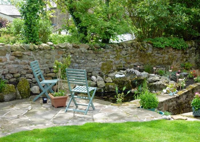 Open gardens, Burton in Lonsdale, newts, Yorkshire