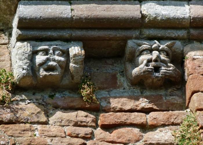 Brougham Castle, gargoyles, medieval castles, North West England