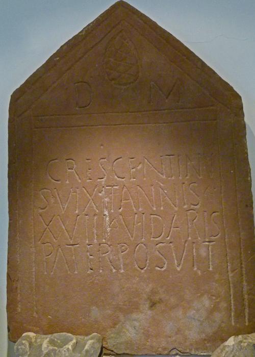 Roman tombstone, cemetary, Brougham Castle